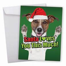 j6611fxsg jumbo merry christmas card santa you this much dog featuring charming dog