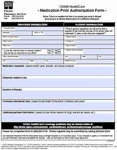 free cigna prior prescription rx authorization form pdf