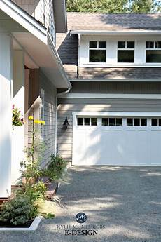 exterior paint color palette with greige benjamin rockport gray with cloud white and