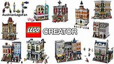 lego creator modular buildings compilation of all sets