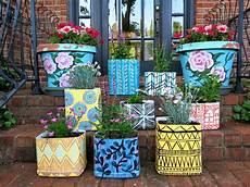 blumenkübel selber dekorieren stephens diy litter containers to pattern y