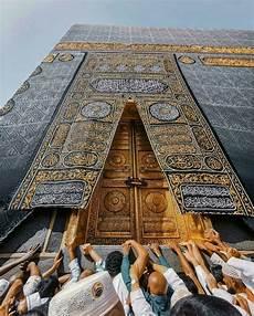 Pintu Ka Bah Dengan Gambar Mekah Arsitektur Masjid Agama