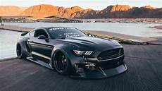 Ford Mustang Getunt - black fury mustang clinched reveals new widebody
