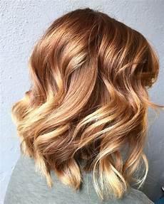 couleur de cheveux cuivré doré light copper to balayage