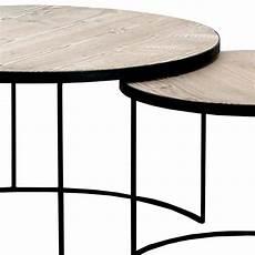 runde couchtische runde couchtische aus fichtenholz und schwarzem metall