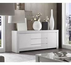 meuble de rangement 2 portes 3 tiroirs moderne laqu 233 blanc