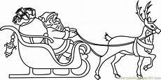 santa on sleigh coloring page free santa claus coloring