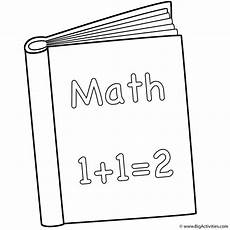math book coloring page back to school