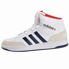 adidas neo vlneo hoops mid mens leather high sneakers