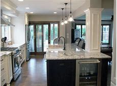 Kitchen with decorative column : Normandy Remodeling
