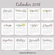 mini kalender 2018 beautiful 2018 calendar vector free
