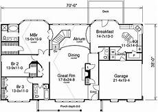 atrium ranch house plans plan 57033ha three atrium balconies in 2019 bungalow