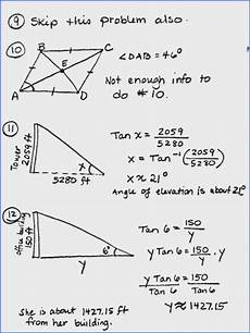 trigonometry word problems worksheets with answers 11171 trigonometric ratios worksheet answers mychaume