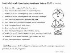 multi step directions worksheets 11737 pirate themed following directions freebie following directions pirate theme following