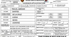 pastilan dolor how to go about processing nbi clearance
