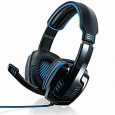 headset pc test csl 7 1 usb gaming headset soundkarte schwarz blau test