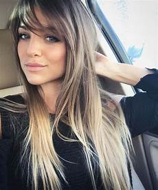 medium hairstyles with side fringe hair color highlights stacked bobs layered hair