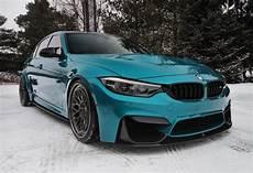 bmw m3 with subtle mods shines in atlantis blue paintjob