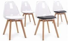 chaises scandinaves maroi en plexiglas groupon