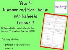 place value number line worksheets 5184 number line to 10000 worksheets year 4 number and place value teaching resources