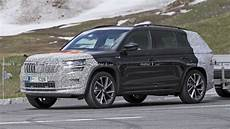 India Bound Skoda Kodiaq Facelift Spied Testing For The