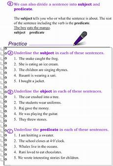 grade 4 grammar lesson 2 the sentence subject object and