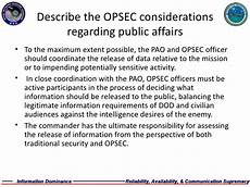 opsec level 1 the question word that describes a time eidws 111 opsec