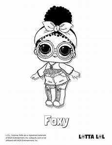 foxy coloring page lotta lol lol dolls coloring pages