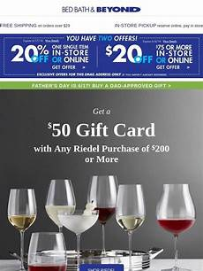 bed bath and beyond your 20 off 75 coupon use it or lose it plus your 50 gift card is