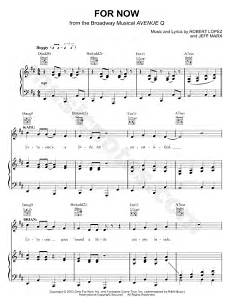 quot for now quot from avenue q sheet music in d major download print sku mn0108749