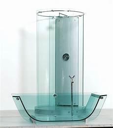 Duschabtrennung Badewanne Glas - glass bathtub and freestanding circular glass shower by