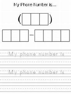 safety unit phone number address handwriting without tears kindergarten social studies