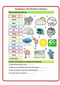 seasons time and weather worksheets 14867 vocabulary weather seasons worksheet free esl printable worksheets made by teachers