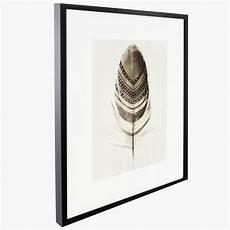 cadre d 233 co en verre quot plume quot 38x48cm blanc