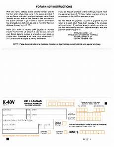 2012 kansas income tax form k40v fill online printable fillable blank pdffiller