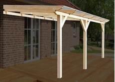 Bausatz Terrassenüberdachung Holz - solidbasic mit vsg glas leimbinder terrassen 252 berdachung
