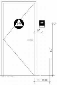 Bathroom Sign Placement by Door Requirements Ada Door Clearance Handicap Bathroom