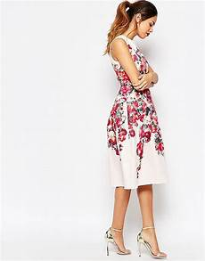 vintage floral bardot midi prom dress with lace up