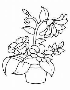 Ausmalbilder Blumen Im Topf Ausmalbild Blumen Im Topf Zum Kostenlosen Ausdrucken Und