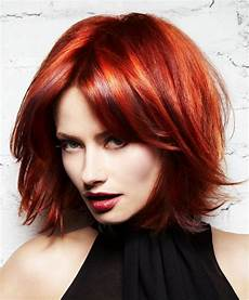 a medium red hairstyle from the l anza neoglam ice