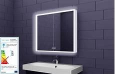 led spiegelschrank led spiegelschrank 80x70cm in weiss badezimmer spiegel