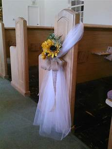 sunflower pew bow perhaps without the flowers forget