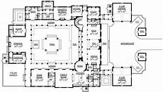 courtyard pool house plans 5 bedroom italianate mansion with courtyard pool floor plan
