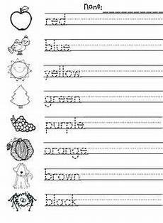 color spelling worksheets 22345 management monday handwriting kindergarten writing kindergarten colors kindergarten