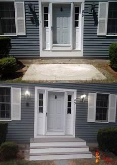 Front Door Entrance Patio by Front Door Steps Home Deck Remodeling House In 2019