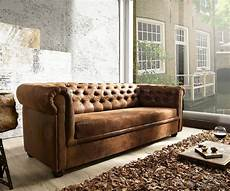 couch braun couch chesterfield braun 200x92 cm antik optik abgesteppt