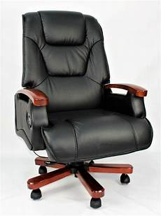 genuine leather full recliner executive office chair