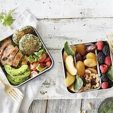Mediterrane Diät Rezepte - bento box gesunder lunch to go