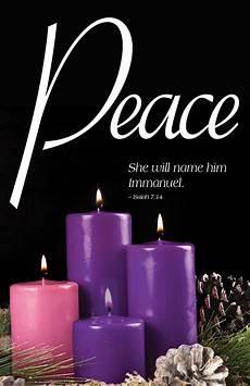 peace advent candle sunday 4 bulletin pkg of 50 cokesbury