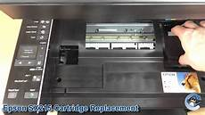 epson stylus sx215 how to change ink cartridges